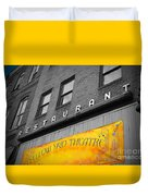 Yellow Sign Theatre Duvet Cover