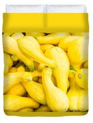 Yellow Squash At The Market Duvet Cover