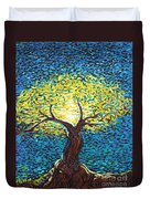Yellow Squiggle Tree Duvet Cover