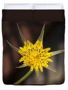 Yellow Star Flower Duvet Cover