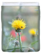 Yellow Star-thistle Duvet Cover