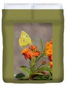 Yellow Sulphur Butterfly Duvet Cover