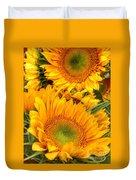 Yellow Sun Flower Burst Duvet Cover