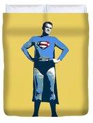Yellow Superman Duvet Cover