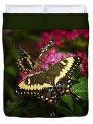 Yellow Swallowtail Butterflies  Duvet Cover