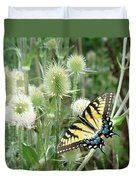 Yellow Swallowtail Butterfly Duvet Cover