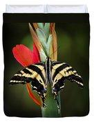 Yellow Swallowtail Butterfly  Duvet Cover