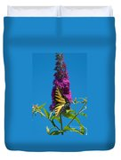 Yellow Tiger Swallowtail Papilio Glaucus Butterfly  Duvet Cover