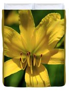 Yellow Too Lily Flower Art Duvet Cover