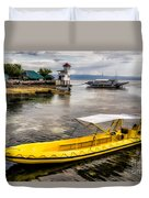 Yellow Tour Boat Duvet Cover