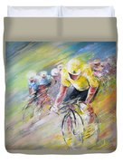 Yellow Triumph Duvet Cover