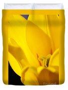 Yellow Tulip Closeup Duvet Cover