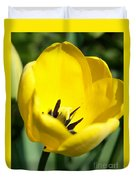 Yellow Tulip Cup Duvet Cover