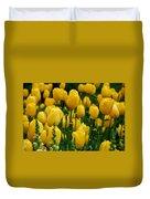 Yellow Tulip Sea Duvet Cover