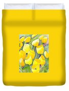 Yellow Tulips 2 Duvet Cover