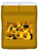 Golden Tulips In Full Bloom Duvet Cover