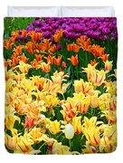 Yellow Tulips In Bloom Duvet Cover