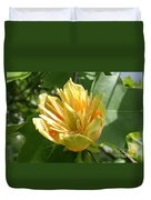 Yellow Tuliptree Flower Duvet Cover