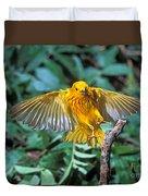 Yellow Warbler Dendroica Petechia Duvet Cover