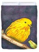 Yellow Warbler II Duvet Cover