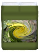 Yellow Whirlpool Duvet Cover