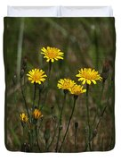 Yellow Wild Flowers Along The Chehalis Trail Duvet Cover