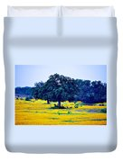 Yellow Wildflowers After Sunrise Duvet Cover