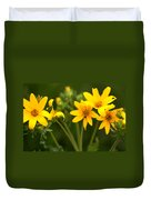 Yellow Wildflowers Duvet Cover