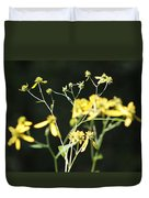 Yellow Wildflowers Duvet Cover