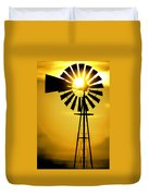 Yellow Wind Duvet Cover by Jerry McElroy