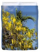 Yellow Wisteria Blooms Duvet Cover