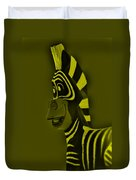 Yellow Zebra Duvet Cover