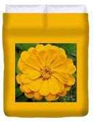 Yellow Zinnia Duvet Cover