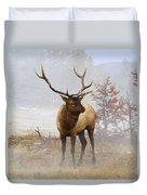 Yellowstone Bull Elk Duvet Cover