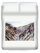 Yellowstone Canyon Yellowstone Np Duvet Cover
