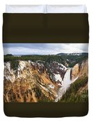 Yellowstone Falls Panorama Duvet Cover