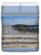 Yellowstone National Park - Hot Springs Duvet Cover