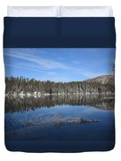 Yellowstone National Park - Mountain Lake Duvet Cover
