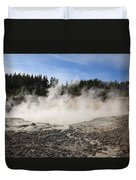 Yellowstone National Park - Mud Pots Duvet Cover