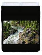 Yellowstone - Upper Falls Duvet Cover