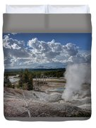 Yellowstone's Norris Geyser Basin Duvet Cover