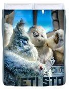 Yeti Store Duvet Cover by Scott Wyatt