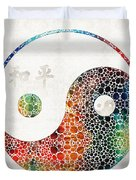 Yin And Yang - Colorful Peace - By Sharon Cummings Duvet Cover