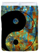 Yin Yang Abstract Duvet Cover