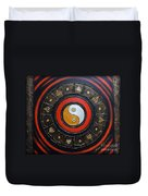 Yin Yang Energy Duvet Cover by Elena  Constantinescu