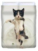Yin Yang Kitten Duvet Cover