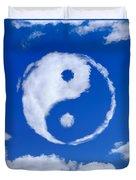 Yin-yang Symbol Made Of Clouds Duvet Cover