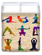 Yoga Poses Duvet Cover
