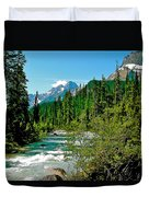 Yoho River In Yoho Np-bc Duvet Cover