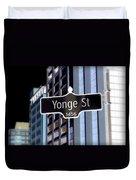 Yonge Street Duvet Cover